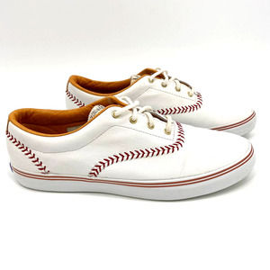 VTG 1992 Keds Leather Baseball Stitch Sneakers